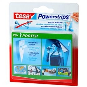 tesa powerstrips poster. Black Bedroom Furniture Sets. Home Design Ideas